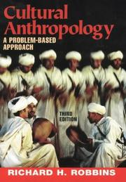 Cover of: Cultural anthropology | Richard H. Robbins