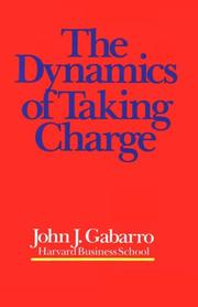 Cover of: The dynamics of taking charge