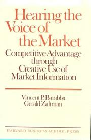 Cover of: Hearing the voice of the market
