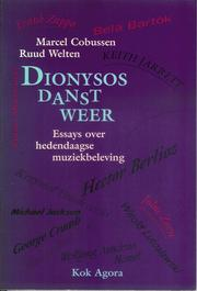 Cover of: Dionysos danst weer by Marcel Cobussen