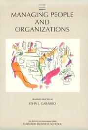 Cover of: Managing people and organizations