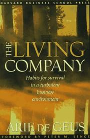 Cover of: The living company