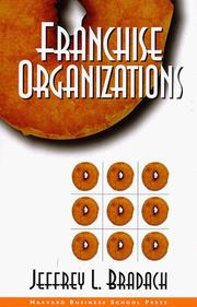 Cover of: Franchise organizations