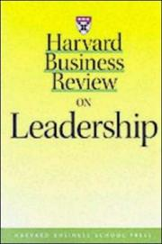 Cover of: Harvard business review on leadership. |