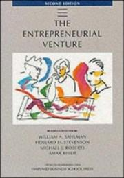 Cover of: The Entrepreneurial Venture (The Practice of Management Series) | Howard H. Stevenson