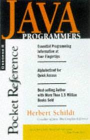 Cover of: Java Programmer's Reference: Programmer's Reference (Pocket Reference)