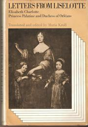 Cover of: Letters from Liselotte