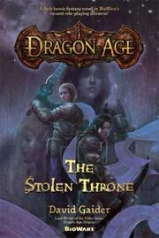 Cover of: Dragon age by David Gaider
