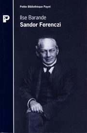 Cover of: Sandor Ferenczi
