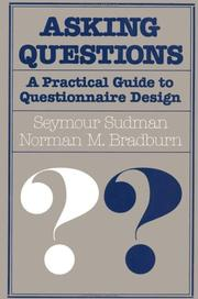 Cover of: Asking questions | Seymour Sudman