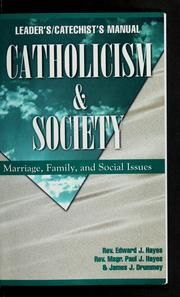 Cover of: Catholicism and society
