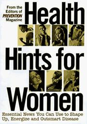 Cover of: Health Hints for Women: Headlines in Women