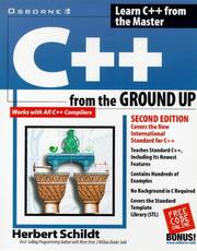 Cover of: C++ from the ground up | Herbert Schildt