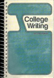 Cover of: College Writing |