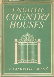 Cover of: English country houses
