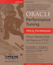 Cover of: Oracle Performance Tuning Tips and Techniques | Richard J. Niemiec