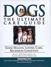 Cover of: Dogs | edited by Matthew Hoffman ; medical advisor, Lowell Ackerman.