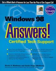 Cover of: Windows 98 answers!