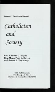 Cover of: Catholicism and society | Hayes, Edward J.