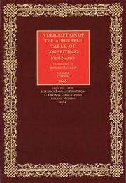 A Description of the Admirable Table of Logarithmes by John Russell Napier, Edward Wright