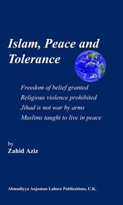 Cover of: Islam, peace and tolerance | Zahid Aziz