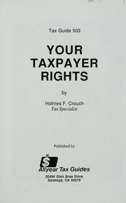 Cover of: Your taxpayer rights