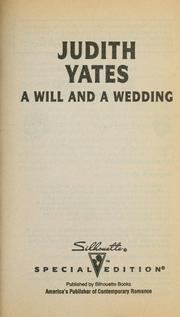 Cover of: Will And A Wedding | Yates