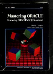 Cover of: Mastering Oracle by Daniel J. Cronin