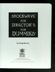 Cover of: Shockwave for Director 5 for dummies