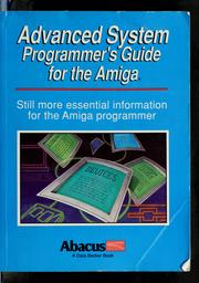 Cover of: Advanced system programmer's guide for the Amiga