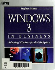 Cover of: Windows 3 in business | Stephen P. Morse