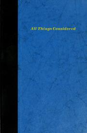 Cover of: All things considered. | Russell Baker