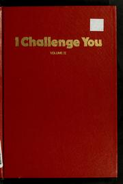 Cover of: I challenge you ..
