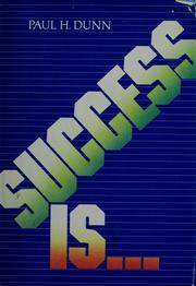 Cover of: Success is--