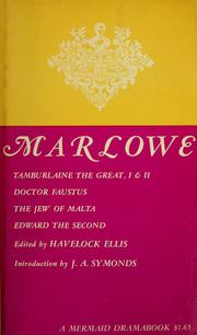 Cover of: Christopher Marlowe: five plays | Christopher Marlowe