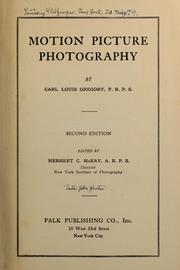 Cover of: Motion picture photography | New York Institute of Photography.