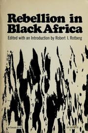 Cover of: Rebellion in Black Africa