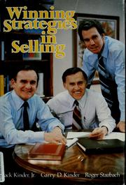 Cover of: Winning strategies in selling