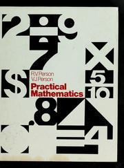 Cover of: Practical mathematics | Russell V. Person