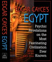 Cover of: Edgar Cayce's Egypt