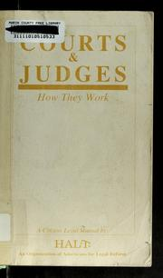 Cover of: Courts & judges | Katherine J. Lee
