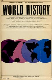 Cover of: World history in outline | Lacey Baldwin Smith