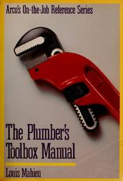 Cover of: The plumber