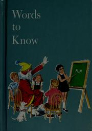 Cover of: Words to know | Harry Bricker