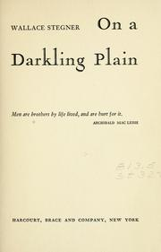 Cover of: On a darkling plain