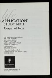 Cover of: Life application study Bible, Gospel of John