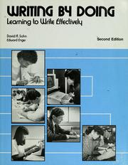 Cover of: Writing by doing | David A. Sohn