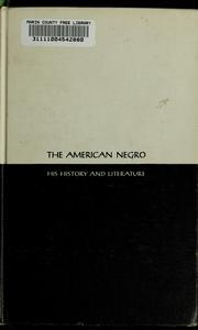 Cover of: The education of the Negro prior to 1861: a history of the education of the colored people of the United States from the beginning of slavery to the Civil War