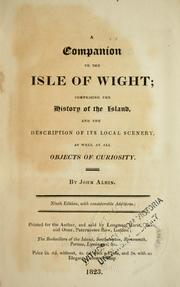 Cover of: A companion to the Isle of Wight | John Albin