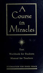 Cover of: A Course in miracles |